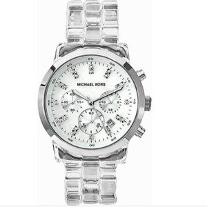 Michael Kors MK5235 clear ceramic quartz watch